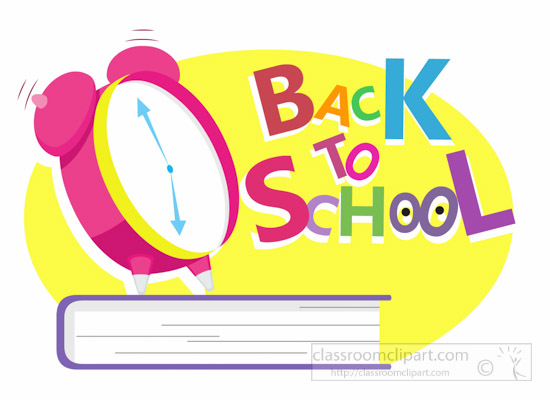 Alarm Clock Ringing Back To School Clipart