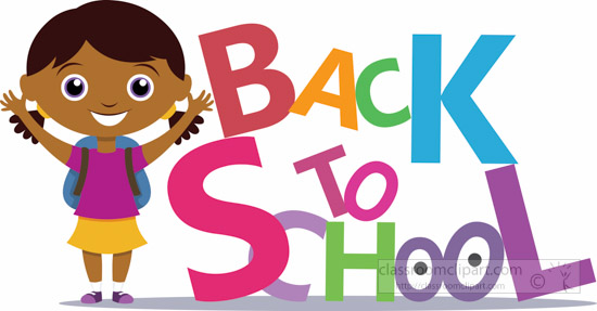 Young Female Student Standing Aside Text Back To School Clipart